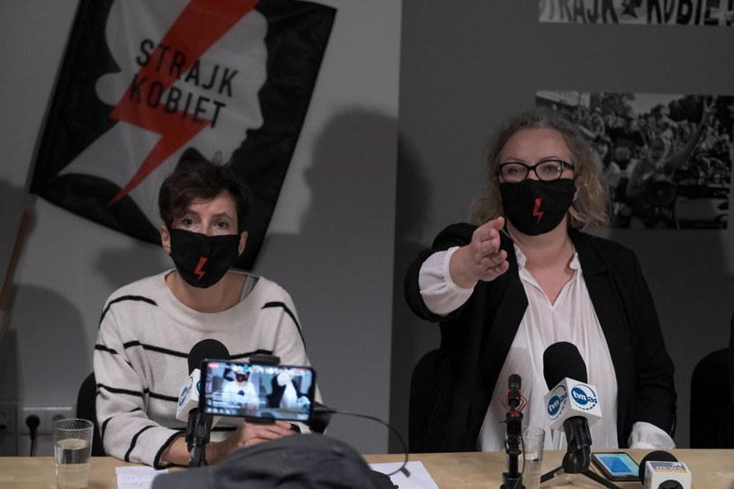 Liderki Ogólnopolskiego Strajku Kobiet Klementyna Suchanow i Marta Lempart /Mateusz Marek /PAP