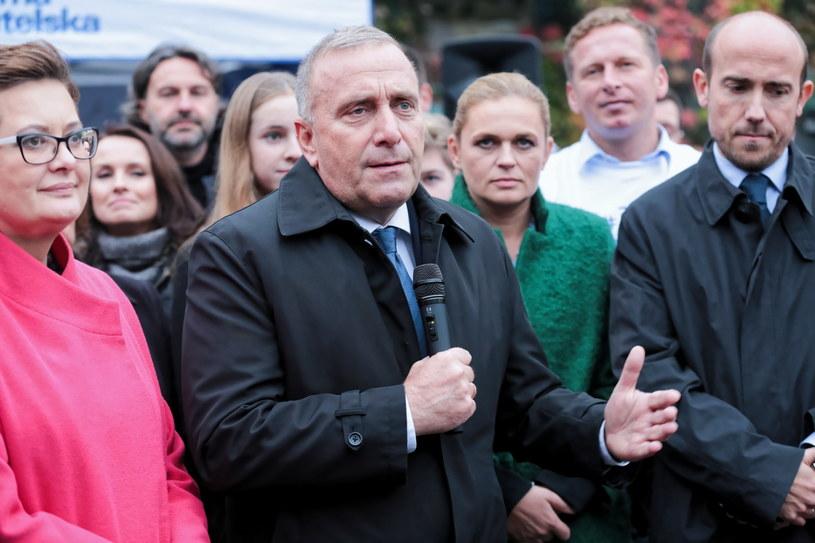 Liderzy Koalicji Obywatelskiej na Placu Stulecia w Sosnowcu /Hanna Bardo /PAP