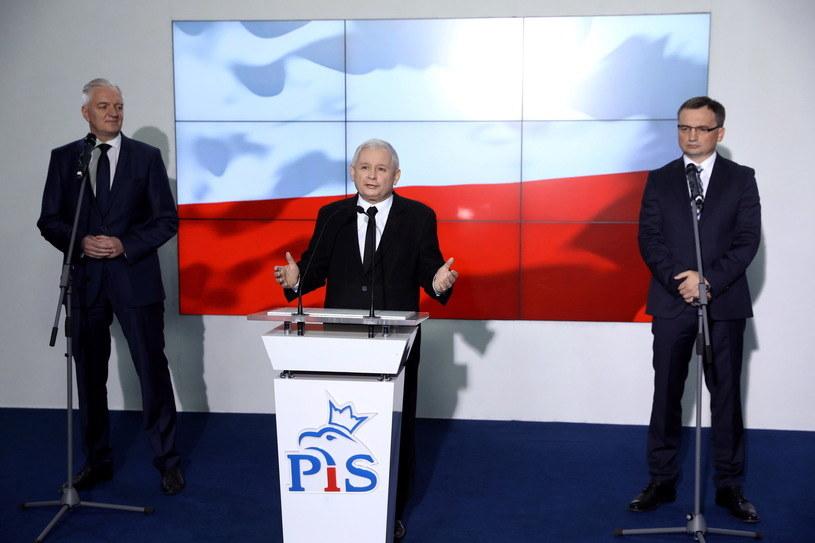 Liderzy Zjednoczonej Prawicy /Rafał Guz /PAP