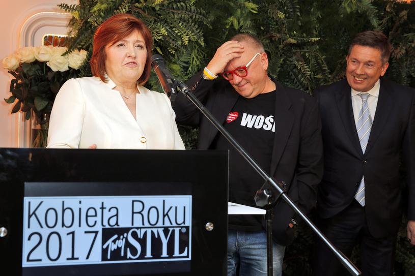 Lidia Owsiak, Jerzy Owsiak i Jacek Szmidt, redaktor naczelny Twojego STYLU /Twój Styl