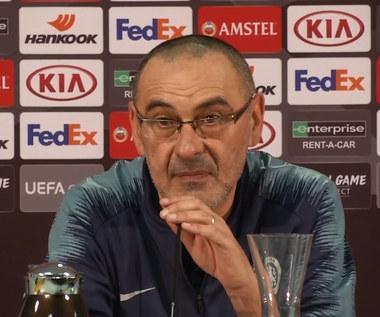 """Liga Europy. Maurizio Sarri (Chelsea): """"Myślę, że zasłużyliśmy na wygraną"""". Trener Chelsea po remisie 1-1 z Eintrachtem. Wideo"""