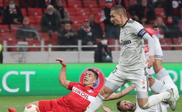 Liga Europy: Niespodzianka w Moskwie, Legia wygrała ze Spartakiem
