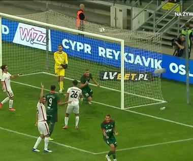 Liga Konferencji. Szymon Lewkot doprowadza do wyrównania dla Śląska Wrocław (POLSAT SPORT) Wideo