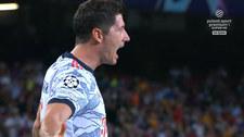 Liga Mistrzów. Lewandowski strzela na Camp Nou. (POLSAT SPORT) Wideo