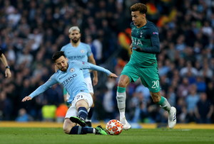Liga Mistrzów. Manchester City - Tottenham Hotspur 4-3 w ćwierćfinale