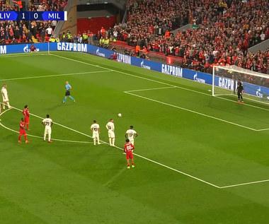 Liga Mistrzów: Marciniak dyktuje rzut karny, Salah pudłuje. Liverpool FC - AC Milan. Wideo (POLSAT SPORT)