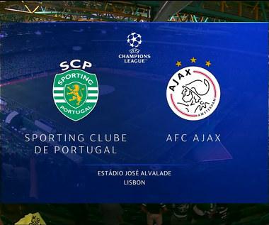 Liga Mistrzów. Sporting Lizbona - Ajax Amsterdam. Skrót meczu. Wideo (POLSAT SPORT)