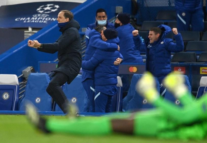 Liga Mistrzów. Thomas Tuchel cieszy się z gola w meczu Chelsea - Real Madryt /GLYN KIRK / AFP /AFP