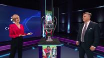 Liga Mistrzów. Wyjątkowy gość studia Polsatu Sport Premium. Puchar zawitał do Warszawy. Wideo