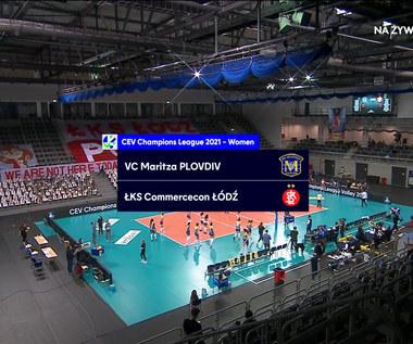 Liga Mistrzyń. Maritza Płowdiw - ŁKS Commercecon Łódź 1-3. Skrót meczu (POLSAT SPORT). Wideo