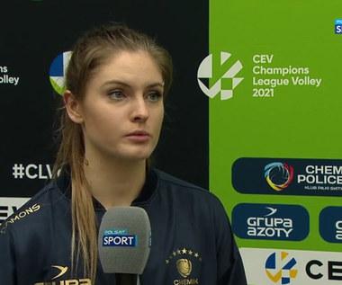 Liga Mistrzyń. Martyna Grajber: Sprawa jest otwarta. Liczę, że w rewanżu będzie lepiej (POLSAT SPORT). Wideo