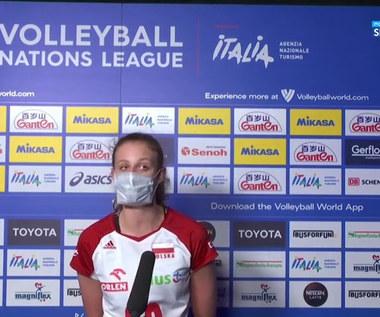 Liga Narodów siatkarek. Martyna Czyrniańska: Dziewczyny mocno mnie wspierały (POLSAT SPORT). Wideo