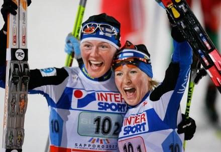 Liisa Riitta Roponen (z lewej) i Virpi Kuitunen /AFP