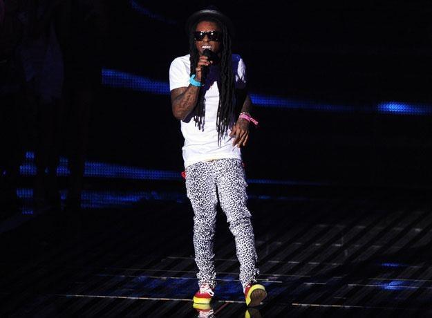 """Lil Wayne w legginsach w cętki: """"Takie ciasne, że ledwo chodzę"""" fot. Kevin Winter /Getty Images/Flash Press Media"""