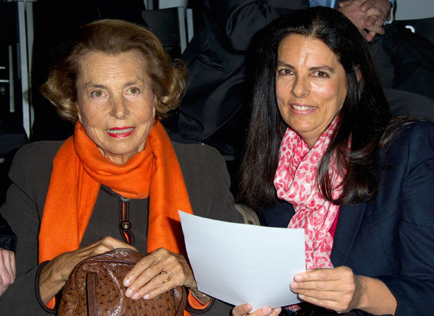 Liliane Bettencourt z córką /Getty Images/Flash Press Media
