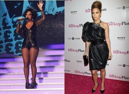 Lily Allen i Jennifer Lopez - typ sylwetki: trójkąt /Getty Images/Flash Press Media