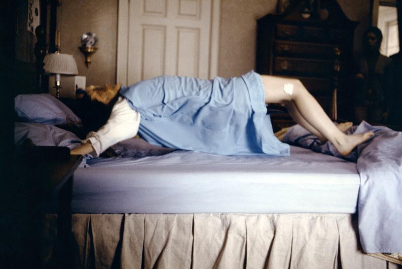 "Linda Blair w filmie ""Egzorcysta"" /Sunset Boulevard/Corbis /Getty Images"