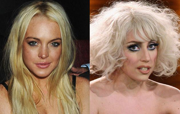 LIndsay Lohan, Lady Gaga. Fot. Dave M. Bennett, Miguel Villagran  /Getty Images/Flash Press Media