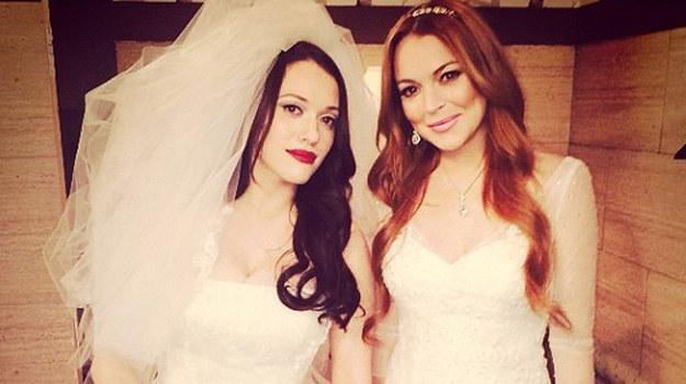 """Lindsay Lohan na planie """"Dwóch spłukanych dziewczyn"""" /Instagram /materiały prasowe"""