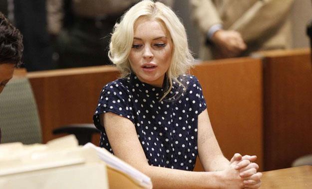 Lindsay Lohan w sądzie w Los Angeles /AFP
