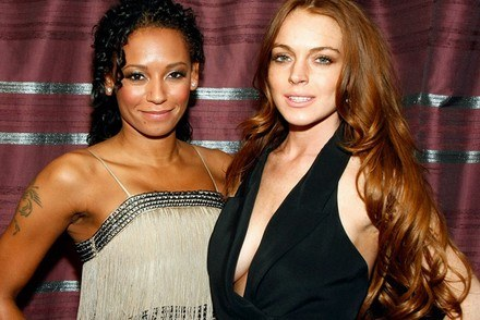 Lindsay Lohan (z prawej) /AFP