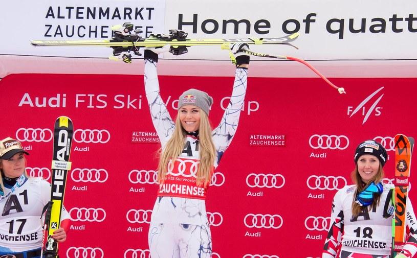 Lindsay Vonn na najwyższym podium PŚ stała już 74 razy /AFP