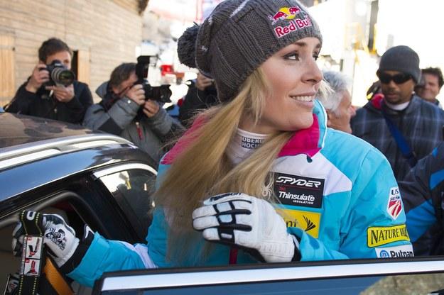 Lindsey Vonn, amerykańska gwiazda narciarstwa alpejskiego /JEAN-CHRISTOPHE BOTT /PAP/EPA