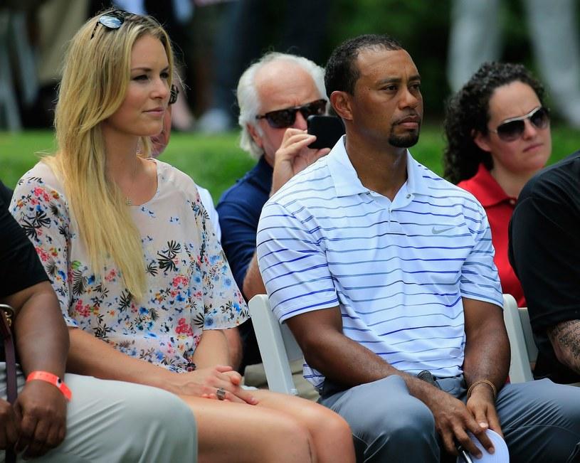 Lindsey Vonn i jej partner słynny golfista Tiger Woods /AFP