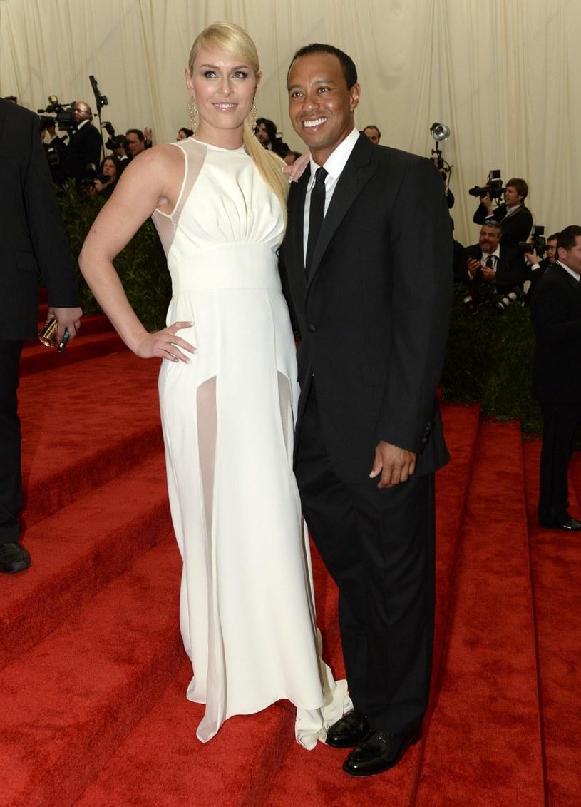 Lindsey Vonn i Tiger Woods od kilku miesięcy są parą /AFP