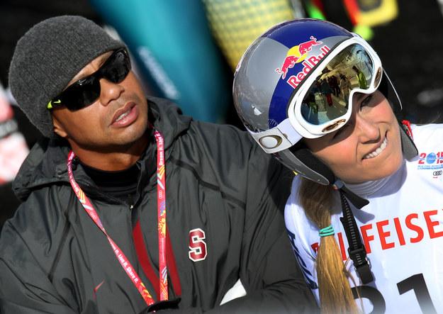 Lindsey Vonn i Tiger Woods /DPA/Stephan Jansen  /PAP
