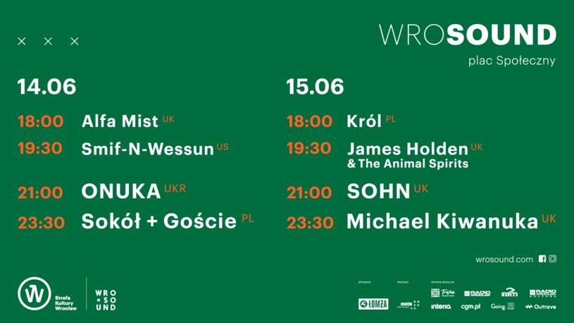 Line-up Wrosund2019 /materiały prasowe