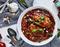 Linguine z kurczakiem w pomidorowo-czosnkowym sosie