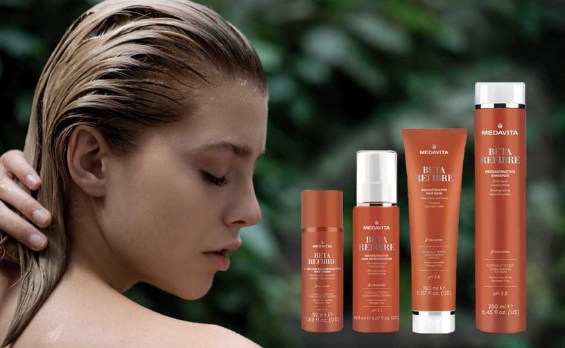 Linia Beta-Refibre odbudowuje, regeneruje, rewitalizuje i wzmacnia włókna włosów /materiały prasowe