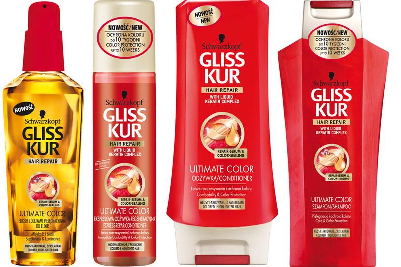Linia Gliss Kur do włosów farbowanych /Styl.pl/materiały prasowe