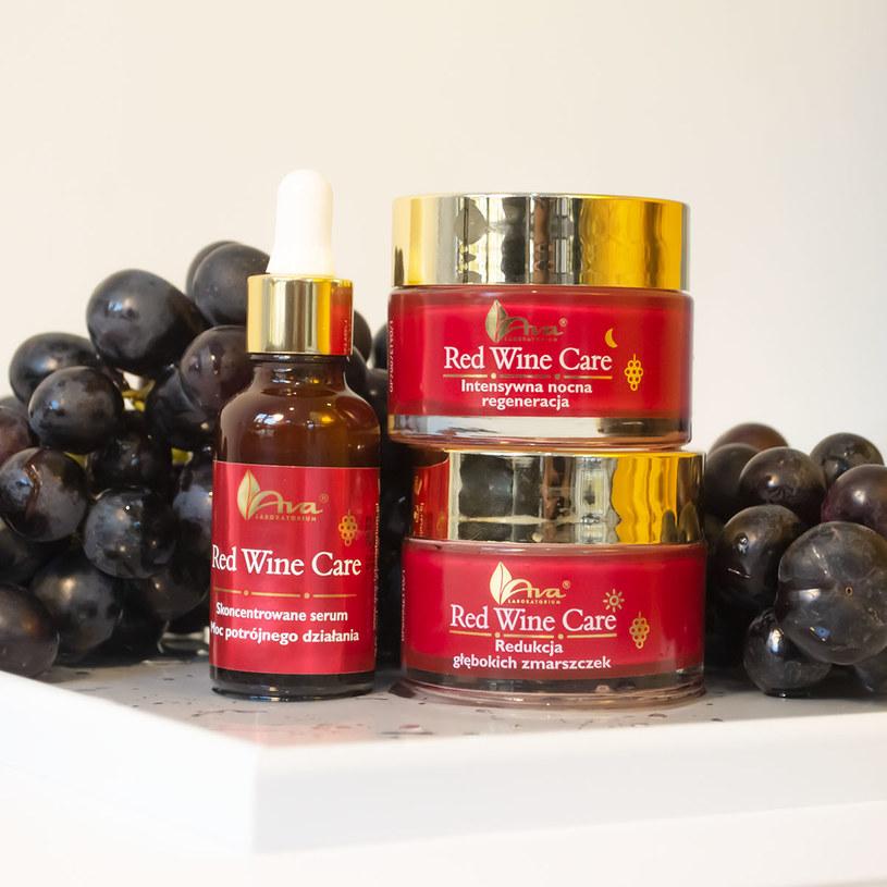 Linia Red Wine Care od Laboratorium Kosmetycznego AVA /materiały prasowe