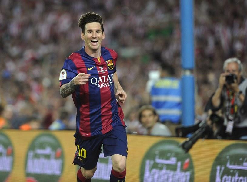 Lionel Messi cieszy się z gola z Athletikiem Bilbao /AFP