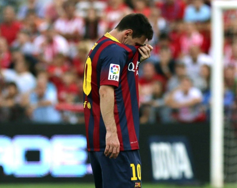 Lionel Messi, gwiazda Barcelony /PAP/EPA