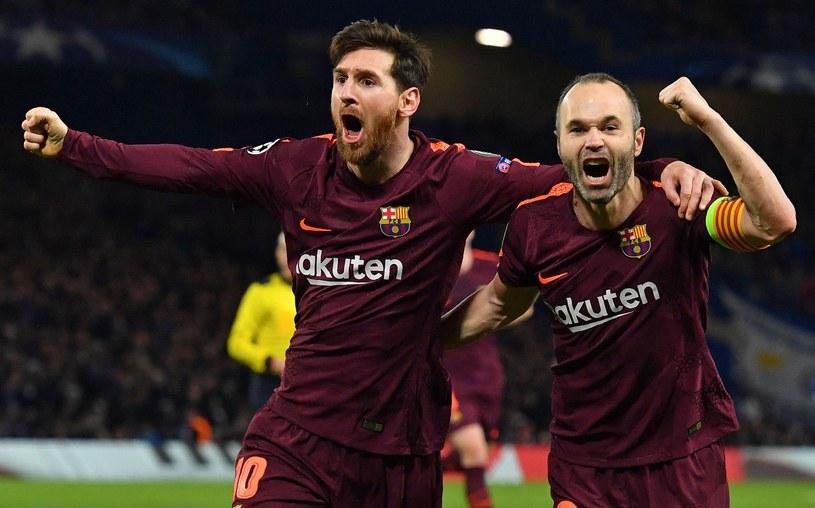 Lionel Messi i Andres Iniesta /AFP
