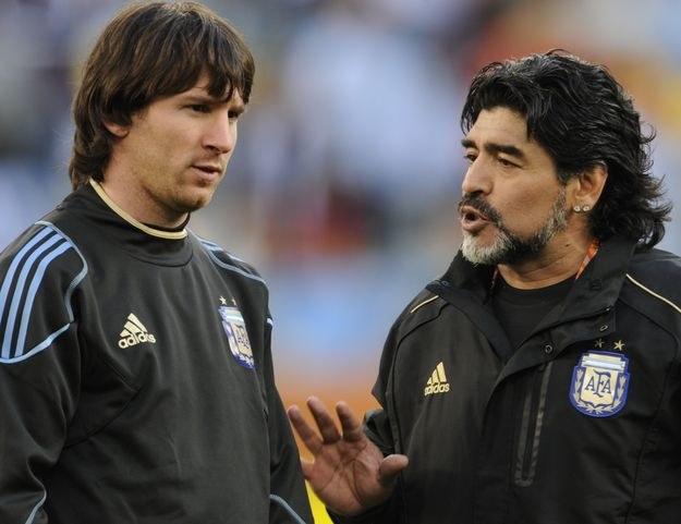 Lionel Messi i Diego Maradona /AFP