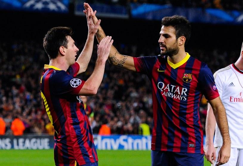 Lionel Messi i Francesc Fabregas wychowali się w szkółce Barcelony /David Ramos /Getty Images