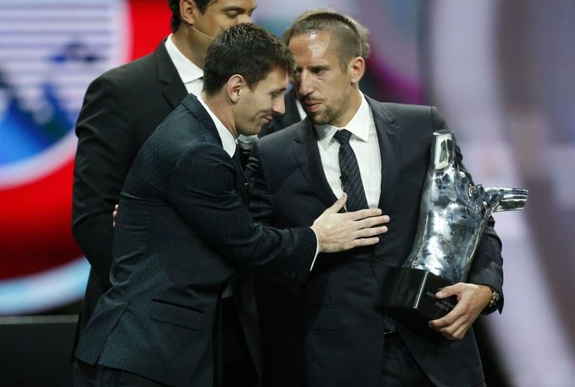 Lionel Messi i Franck Ribery /AFP