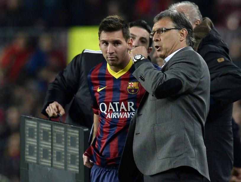 Lionel Messi i Gerardo Martino znowu będą pracować razem /AFP