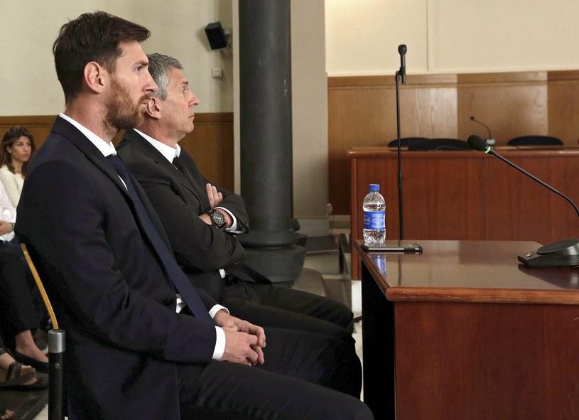 Lionel Messi i jego ojciec Jorge Horacio /PAP/EPA