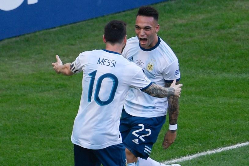 Lionel Messi i Lautaro Martinez w reprezentacji Argentyny /AFP