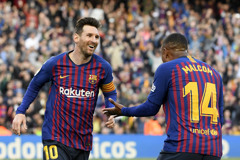 Lionel Messi i Malcom w barwach FC Barcelona /LLUIS GENE /AFP