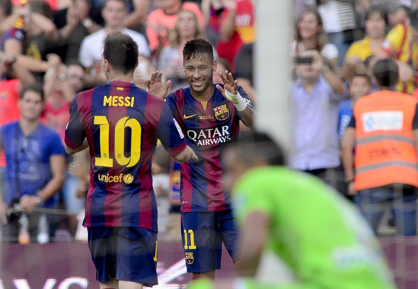 Lionel Messi i Neymar /AFP