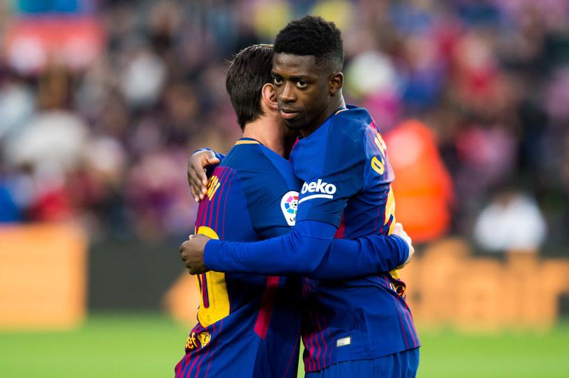 Lionel Messi i Ousmane Dembele z FC Barcelona /Alex Caparros /Getty Images