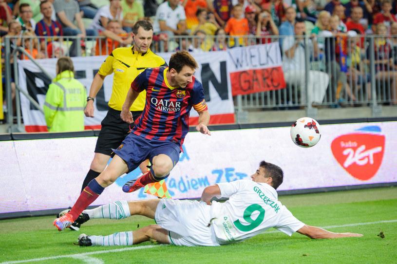 Lionel Messi i Piotr Grzelczak /Fot. Rafał Oleksiewicz /Newspix
