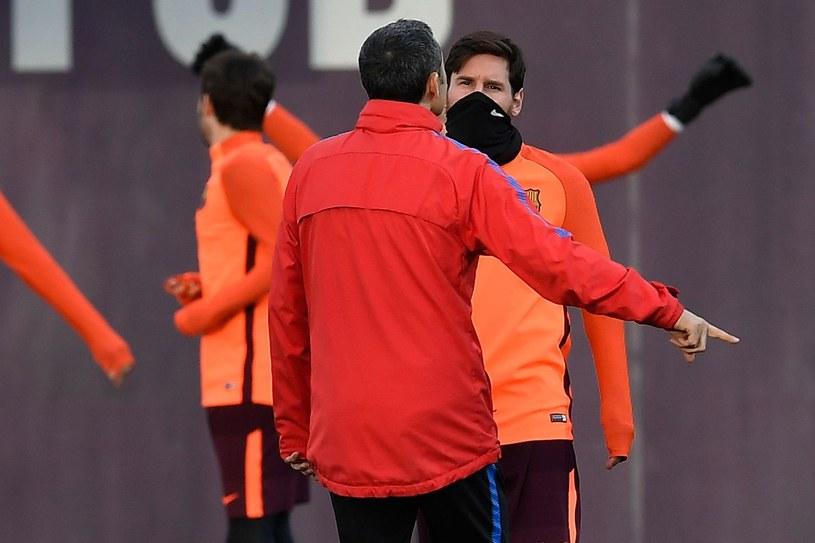 Lionel Messi i trener Ernesto Valverde /AFP