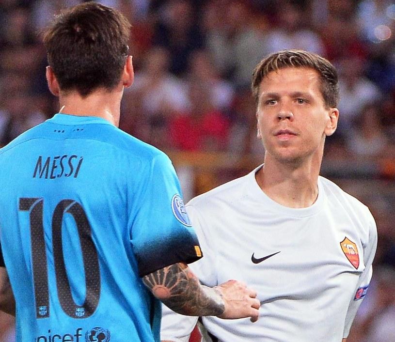 Lionel Messi i Wojciech Szczęsny /MAURIZIO BRAMBATTI /PAP/EPA